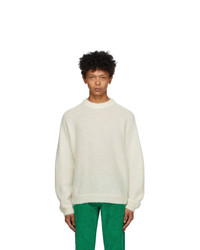 ERL Off White Alpaca And Mohair Sweater
