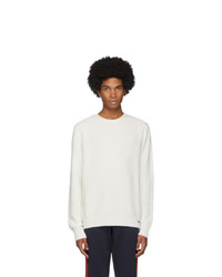 Moncler Off White Knit Crewneck Sweater