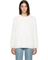 6397 Off White Merino Raglan Sweater