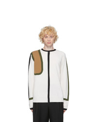 Loewe Off White Wool And Cashmere Scarf Sweater