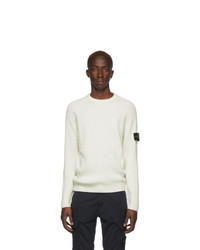 Stone Island Off White Wool Sweater