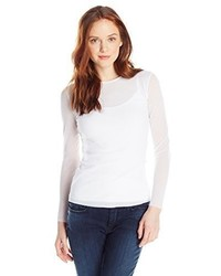 Only Hearts Club Only Hearts Tulle Long Sleeve Crew Neck 2 Ply Body 1 Ply Sleeve