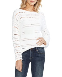 Vince Camuto Open Stitch Cotton Sweater
