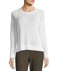 Eileen Fisher Organic Linen Cotton Slub Sweater Plus Size
