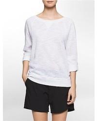 Calvin Klein Performance Dolman Roll Tab Sleeve Pullover Sweatshirt