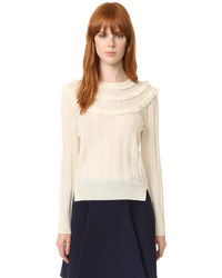 Marc Jacobs Pointelle Crew Neck Sweater