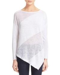 Alice + Olivia Quiana Asymmetrical Linen Pullover