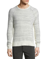 Rag and Bone Rag Bone Justin Textured Cashmere Crewneck Sweater Ivory