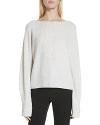 Vince Ribbed Bateau Neck Sweater