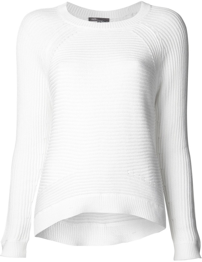 Vince Ribbed Crew Neck Sweater