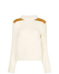 Saint Laurent Ribbed Mock Neck Sweater