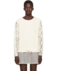 See by Chloe See By Chlo Off White Pointelle Sweater