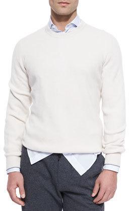 Cashmere crew neck jumper navy Brunello Cucinelli Cheap 2018 znUcSyDq