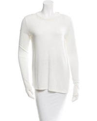 Elizabeth and James Sheer Trimmed Long Sleeve Sweater