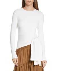 3.1 Phillip Lim Side Tie Rib Knit Pullover