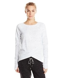 Steve Madden Wrap Bottom Pullover With Raw Edges
