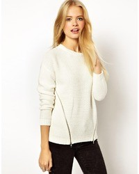 Asos Sweater With Side Zip Detail