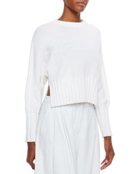 Alexander Wang T By Chunky Knit Cropped Pullover Sweater