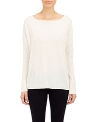 Vince Textured Cuff Sweater White