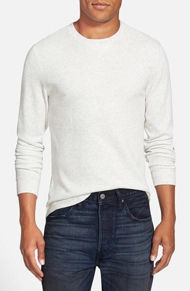 78fe4a42d6801 ... The Rail Long Sleeve Waffle Knit Thermal Crewneck T Shirt ...
