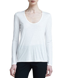 The Row Scoop Neck Classic Tee White