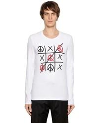 Love Moschino Tic Tac Toe Stretch Jersey T Shirt