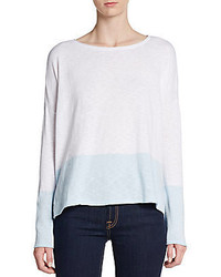 Vince Colorblock Cotton Sweater