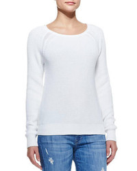 Vince Raglan Sleeve Knit Sweater White