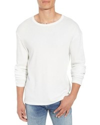 Frame Waffle Knit Slim Fit Cotton Crewneck Shirt