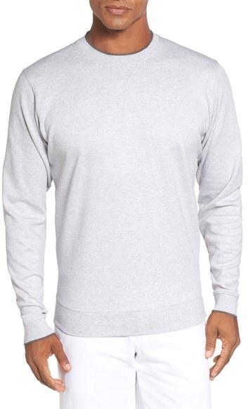 Bobby Jones Walker Tipped Pima Cotton Long Sleeve T Shirt