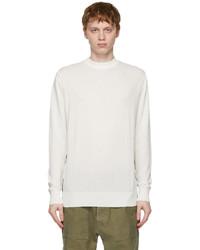 President'S White Cotton Crepe Sweater