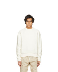 System White Cotton Knit Sweater