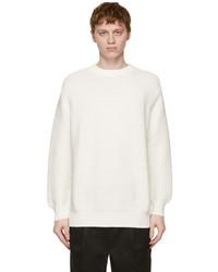 President'S White Cotton Punto Links Sweater