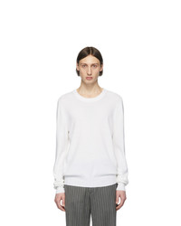 Maison Margiela White Elbow Patch Sweater