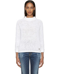 Dsquared2 White Knit Sweater