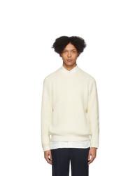 Issey Miyake Men White Low Gauge Sweater