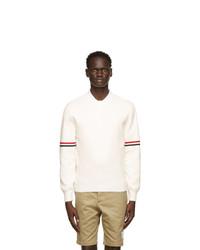 Thom Browne White Milano Stitch Rwb Stripe Sweater