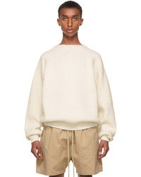 Fear Of God White Overlapped Sweater