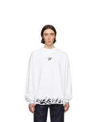 We11done White Wd Logo Sweater