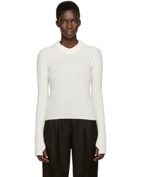 Lemaire White Wool Short Sweater