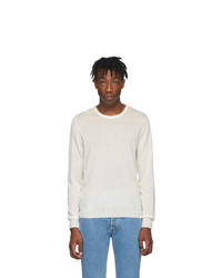 Maison Margiela White Wool Sweater