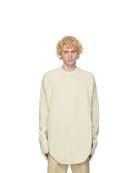 Jil Sander White Wool Sweater