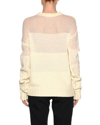 Marni Wool Cashmere Fade Sweater White