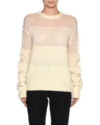 Marni Wool Cashmere Fade Sweater White