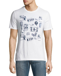 Original Penguin 3 Diional Cinema Scene Tee White