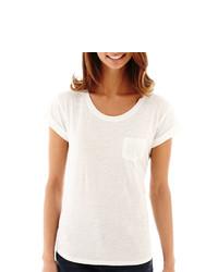 jcpenney Ana Ana Short Sleeve Boyfriend T Shirt