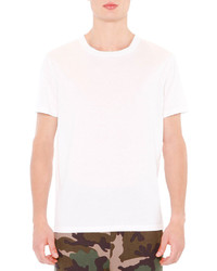 Valentino Basic Short Sleeve T Shirt With Back Stud White
