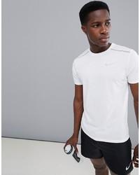 Nike Running Breathe Tailwind T Shirt In White 892813 100
