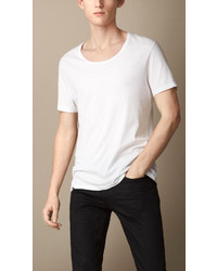 Burberry Brit Cotton Jersey Scoop Neck T Shirt