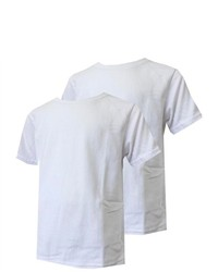 Calvin Klein Boys White 2 Pack Crew Neck T Shirts